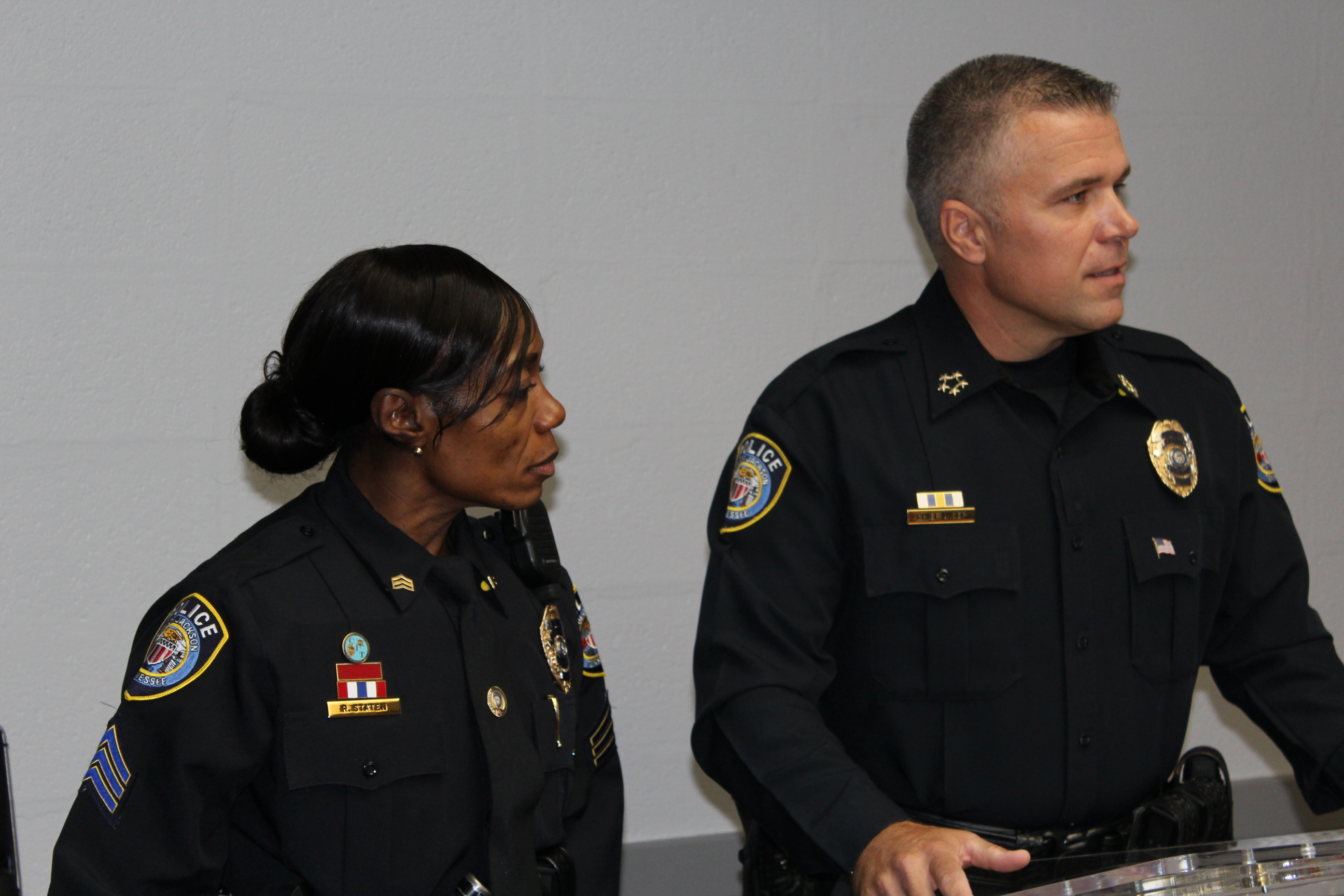 Chief Wiser promotes a Jackson Police Sergeant to the rank of Lieutenant.
